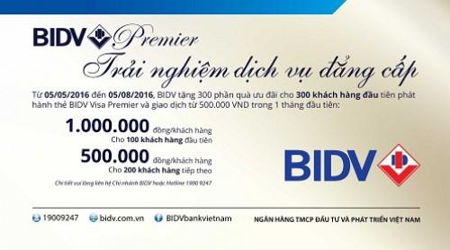 Các tiện ích dịch vụ đẳng cấp BIDV Premier