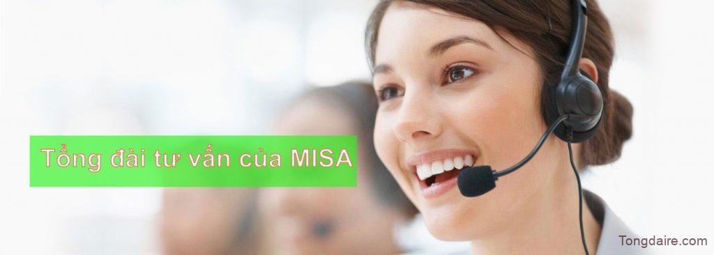 Tổng đài tư vấn của MISA